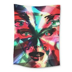 Abstract girl Medium Tapestry