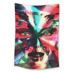 Abstract girl Large Tapestry