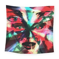 Abstract girl Square Tapestry (Large)