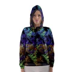 Fractal Forest Hooded Wind Breaker (Women)