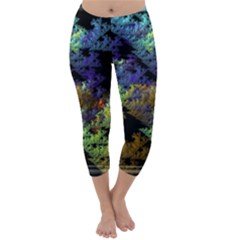 Fractal Forest Capri Winter Leggings