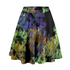 Fractal Forest High Waist Skirt