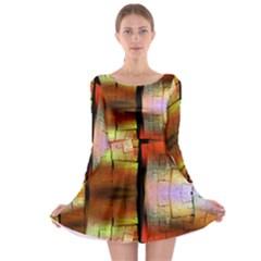 Fractal Tiles Long Sleeve Skater Dress