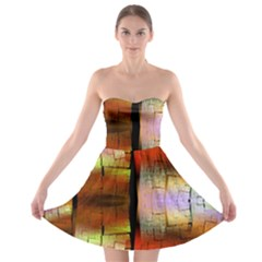 Fractal Tiles Strapless Bra Top Dress