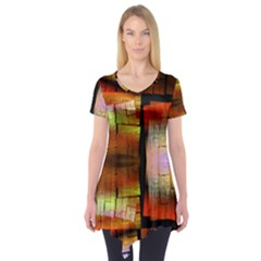 Fractal Tiles Short Sleeve Tunic