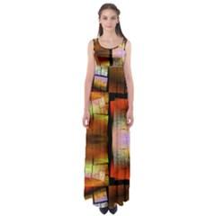Fractal Tiles Empire Waist Maxi Dress