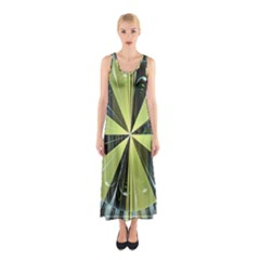 Fractal Ball Sleeveless Maxi Dress