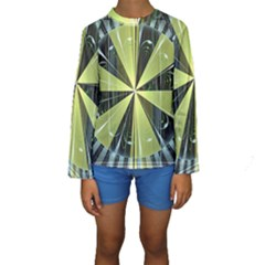 Fractal Ball Kids  Long Sleeve Swimwear