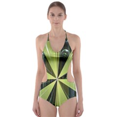 Fractal Ball Cut-Out One Piece Swimsuit