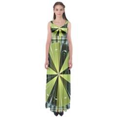 Fractal Ball Empire Waist Maxi Dress