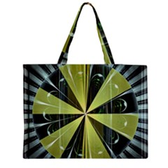 Fractal Ball Medium Zipper Tote Bag