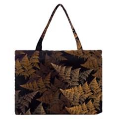 Fractal Fern Medium Zipper Tote Bag