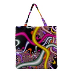 Fractal Roots Grocery Tote Bag