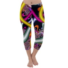Fractal Roots Capri Winter Leggings