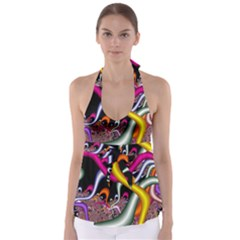 Fractal Roots Babydoll Tankini Top