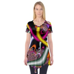 Fractal Roots Short Sleeve Tunic
