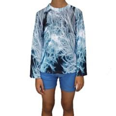 Fractal Forest Kids  Long Sleeve Swimwear