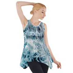 Fractal Forest Side Drop Tank Tunic