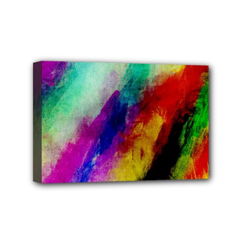 Abstract Colorful Paint Splats Mini Canvas 6  x 4