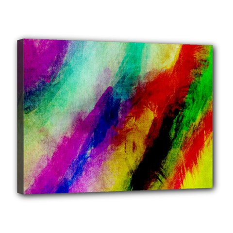 Abstract Colorful Paint Splats Canvas 16  x 12
