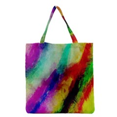 Abstract Colorful Paint Splats Grocery Tote Bag