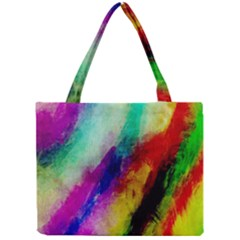 Abstract Colorful Paint Splats Mini Tote Bag