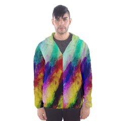 Abstract Colorful Paint Splats Hooded Wind Breaker (Men)