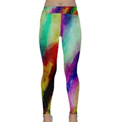 Abstract Colorful Paint Splats Classic Yoga Leggings