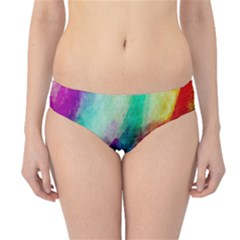 Abstract Colorful Paint Splats Hipster Bikini Bottoms