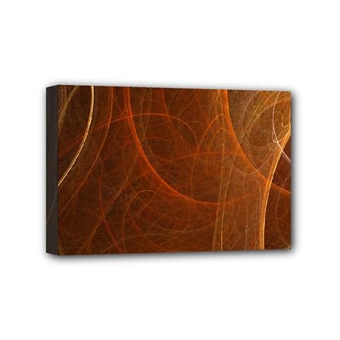 Fractal Color Lines Mini Canvas 6  X 4