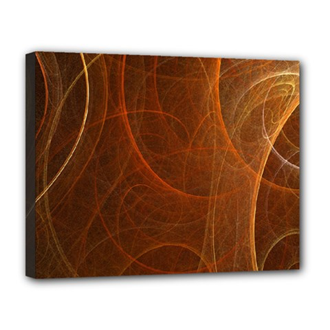 Fractal Color Lines Canvas 14  x 11