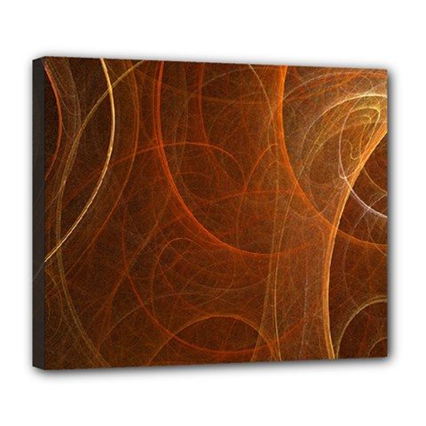 Fractal Color Lines Deluxe Canvas 24  X 20