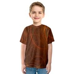 Fractal Color Lines Kids  Sport Mesh Tee