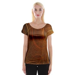 Fractal Color Lines Women s Cap Sleeve Top