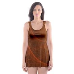 Fractal Color Lines Skater Dress Swimsuit