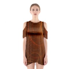 Fractal Color Lines Shoulder Cutout One Piece
