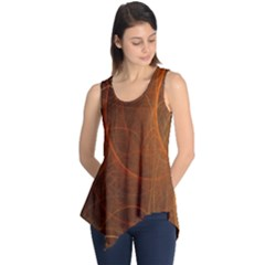 Fractal Color Lines Sleeveless Tunic