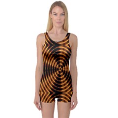 Fractal Patterns One Piece Boyleg Swimsuit