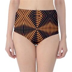 Fractal Patterns High Waist Bikini Bottoms