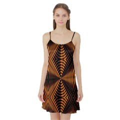 Fractal Patterns Satin Night Slip