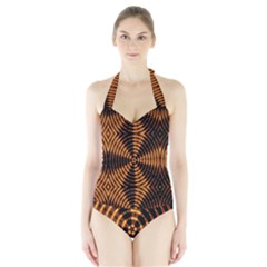 Fractal Patterns Halter Swimsuit