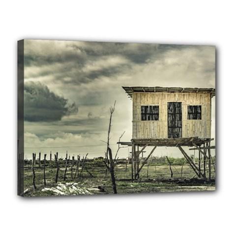 Traditional Cane House At Guayas District Ecuador Canvas 16  x 12