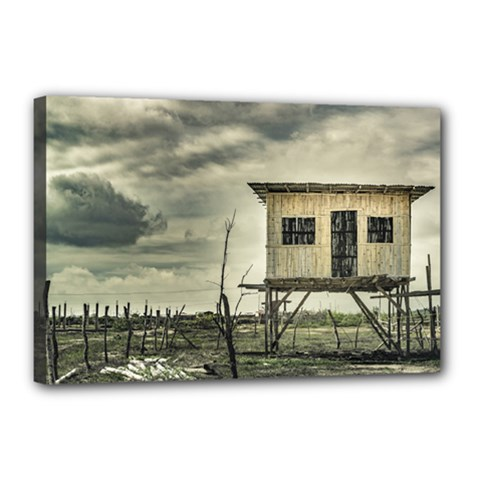 Traditional Cane House At Guayas District Ecuador Canvas 18  x 12