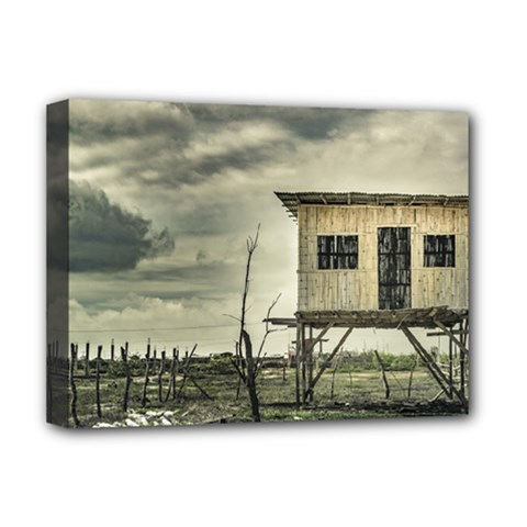 Traditional Cane House At Guayas District Ecuador Deluxe Canvas 16  x 12