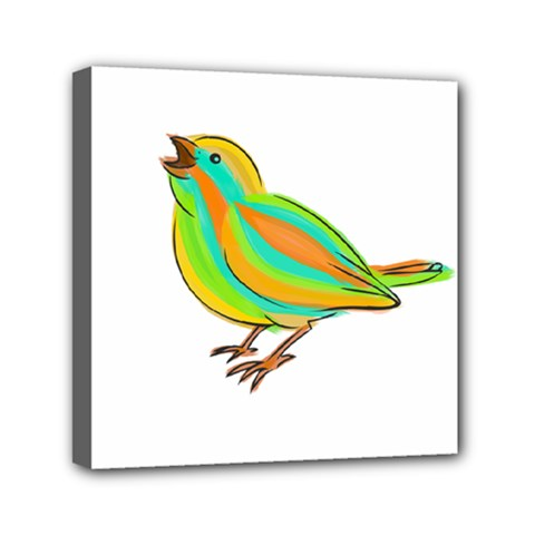 Bird Mini Canvas 6  x 6