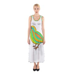 Bird Sleeveless Maxi Dress