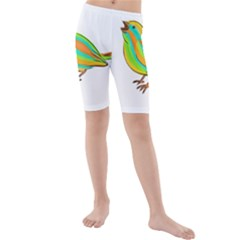 Bird Kids  Mid Length Swim Shorts