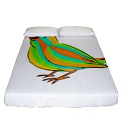 Bird Fitted Sheet (Queen Size)