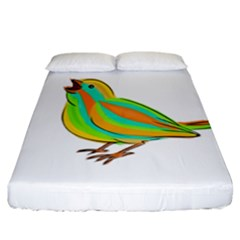 Bird Fitted Sheet (California King Size)
