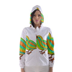 Bird Hooded Wind Breaker (Women)